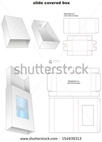 slide covered box by elfishes, via Shutterstock fast food - gift box templates free download