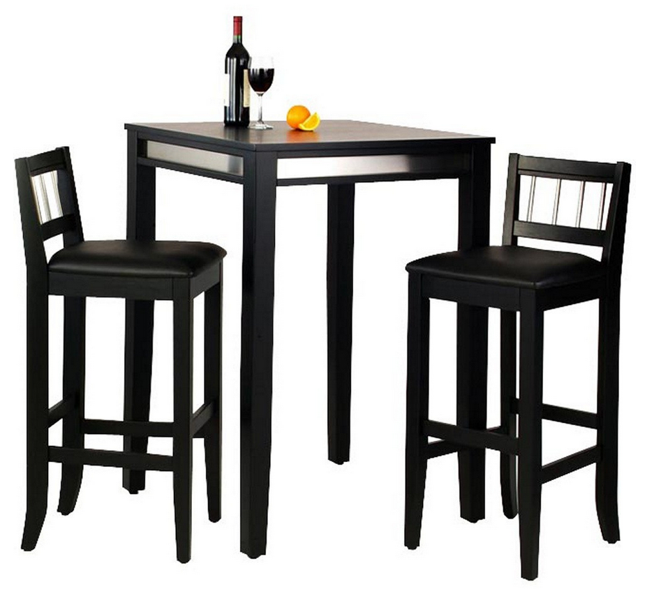 Modern Manhattan 3 Piece Pub Table Set Black Pub Table Pub Table And Stools Pub Table Sets