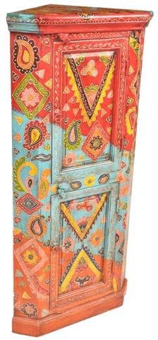 """S Antiques Indian on Twitter: """"Multi Color Embossed hand painted corner cabinet from India, #furnituredesign #furniture #interiordesign #decor http://t.co/OzU1ouKRb1"""""""