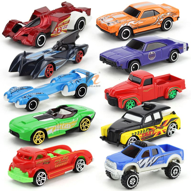 10pcs hot wheels toy cars for kid boys metal car model classic antique collectible for sale