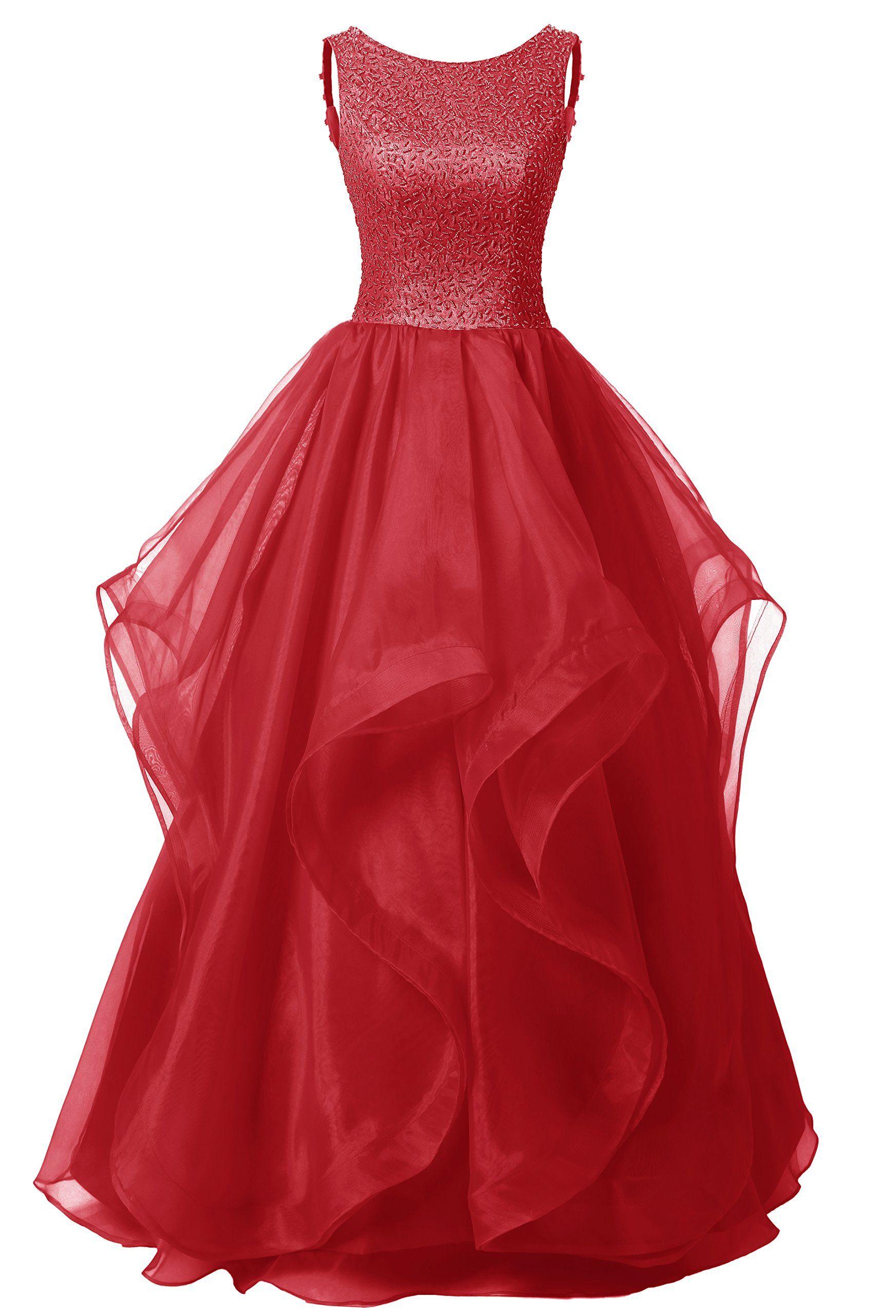 Dresstells long prom dress asymmetric bridesmaid dress beaded