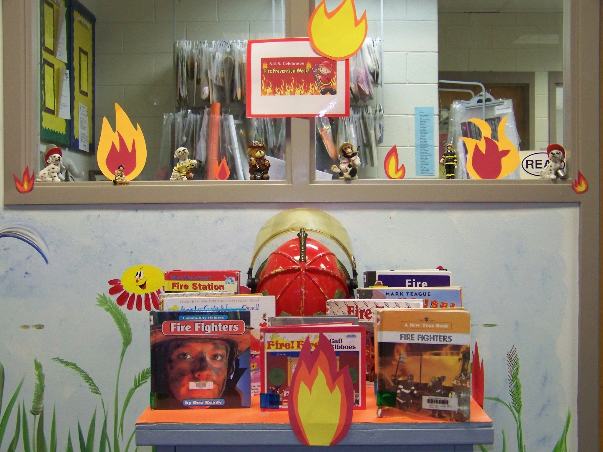 Fire Safety Week Library Display