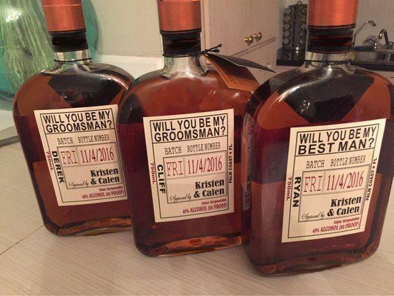50++ Groomsmen liquor bottle labels ideas