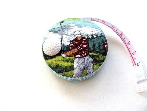 Measuring Tape for the Golf Lover by AllAboutTheButtons on Etsy