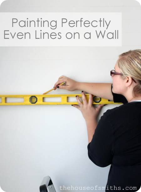 DIY Tutorial: Painting Evenly Spaced Gray Stripes on an Accent Wall #graystripedwalls DIY Tutorial: Painting Evenly Spaced Gray Stripes on an Accent Wall #graystripedwalls