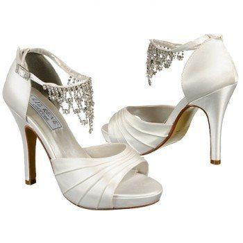 Women S Liz Rene By Benjamin Walk Guadalupe White Silk Satin Shoes Sparklies