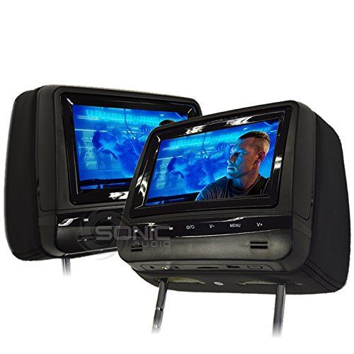 Sonic Audio Hr7a Universal Leatherstyle Car Dvdmultimedia Headrest