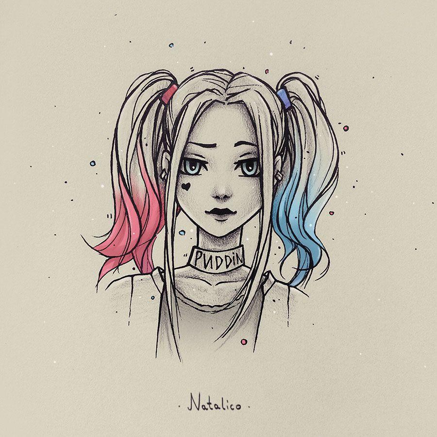 Harley Quinn By Natalico Deviantart Pinterest Harley