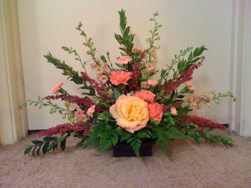 Fan Shaped Flower Arrangement Fan Shaped Floral Arrangements