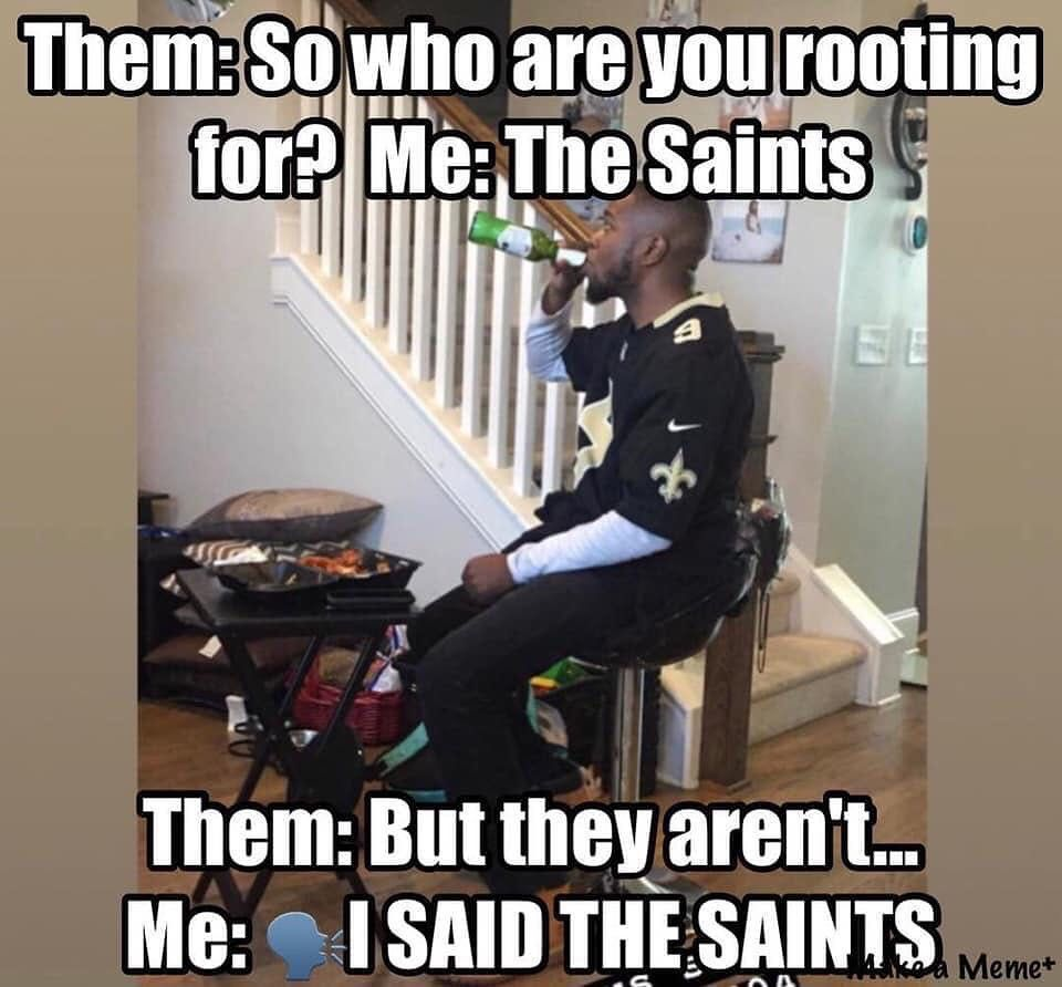 Pin By Keith Meyers On Who Dat New Orleans Saints Football Saints Memes Saints Football