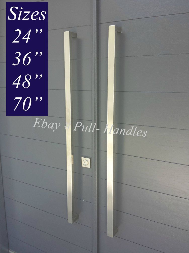 Pull Handles Long Door Handle Entry 316 Stainless Steel Marine Grade Square Entry Door Handles Exterior Door Handles Modern Entry Door