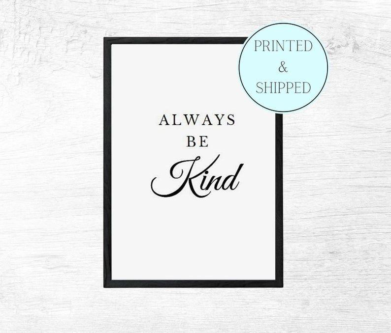 Always Be Kind Print Wall Art Be Kind Nursery Print Be   Etsy