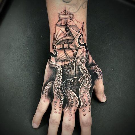 Photo of Octopus hand tattoo