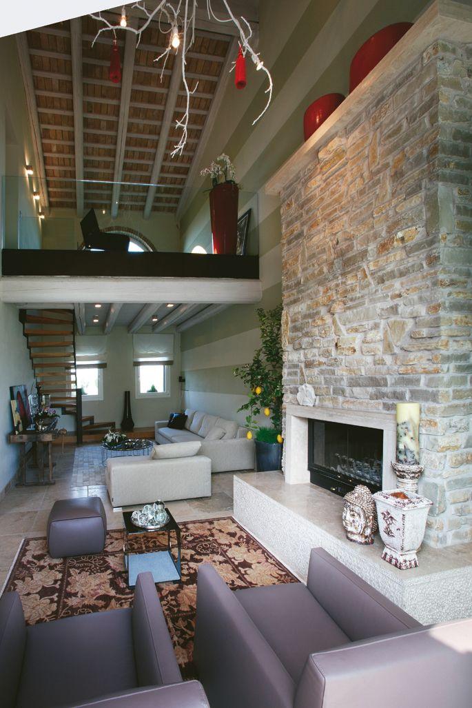 soggiorno con soppalco / living room wiht mezzanine | ARC-Soppalco ...
