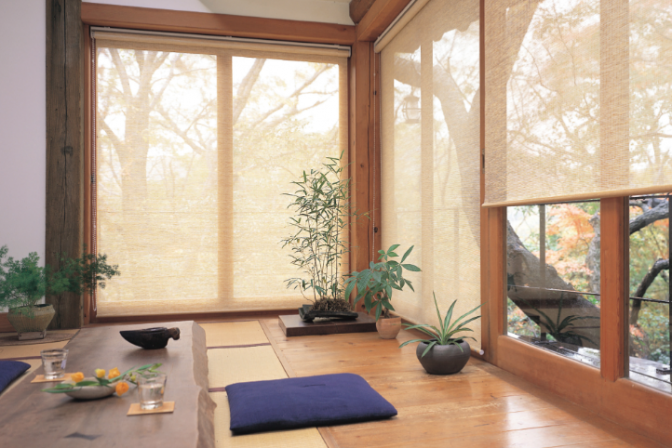 See Through Roller Blinds-Keep heat out & Provide light for orchids....