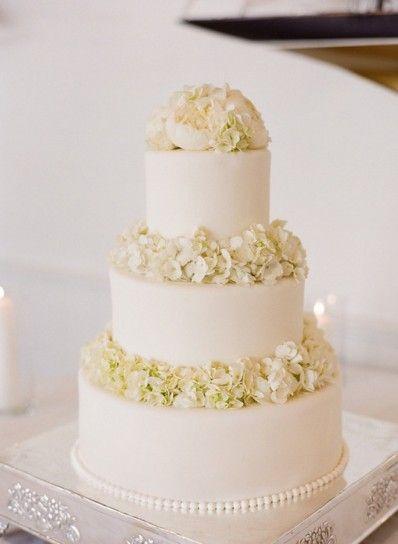 Torta Nuziale Bianca Con Fiori Wedding Day Torte Nuziali