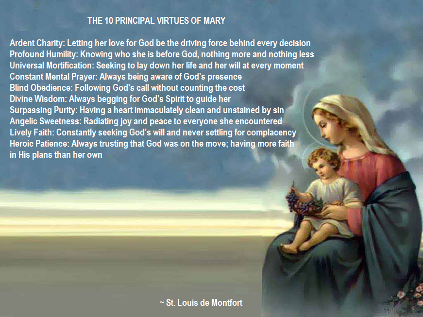 Ten Virtues of Blessed Mother Mary
