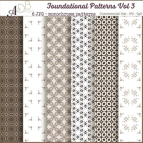Foundational Patterns Vol. 03, papers, background. cu, commercial, scrap, scrapbooking, cudigitals.com,