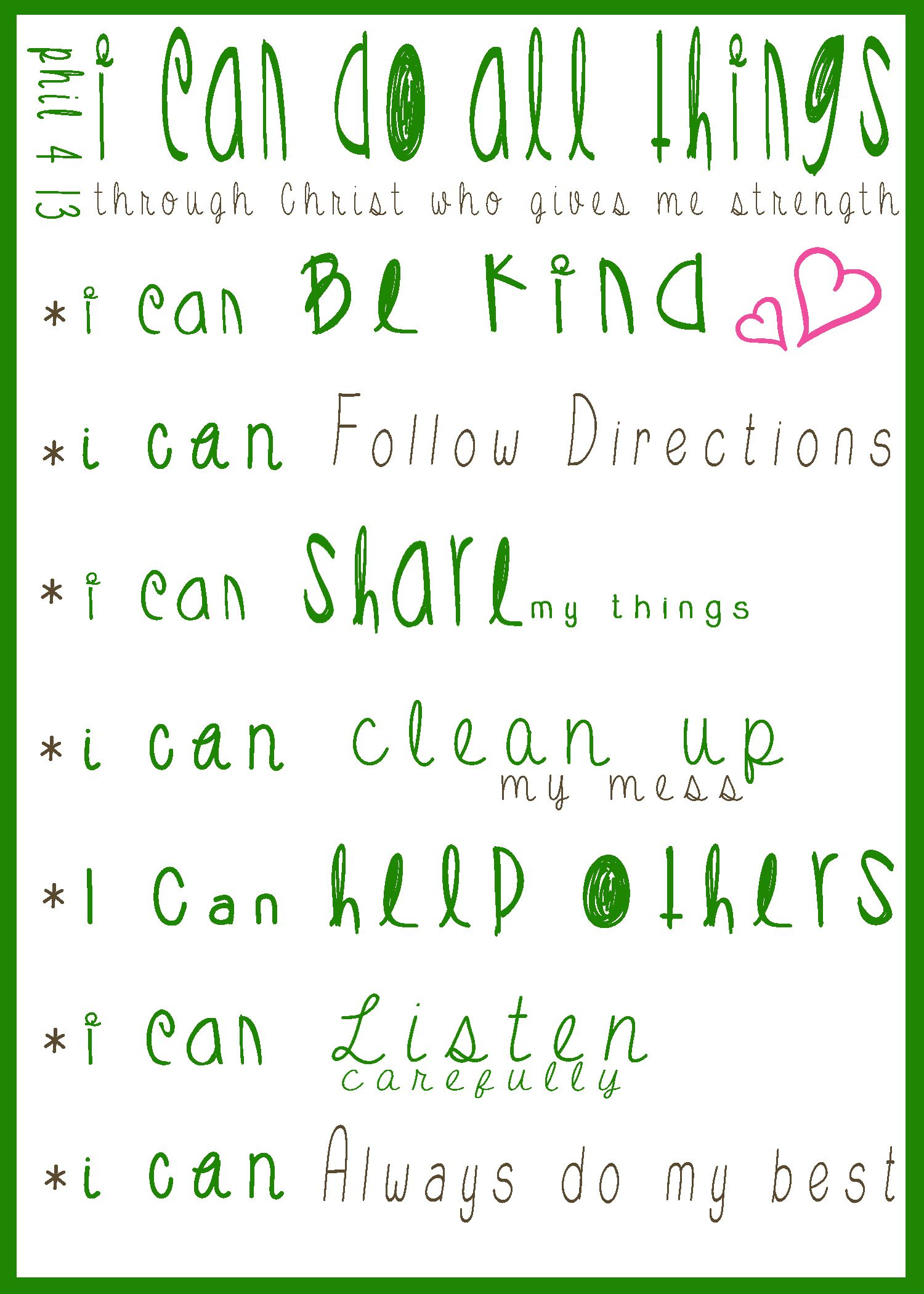 Classroom Rules For What We Can Do In The Classroom Phil 4