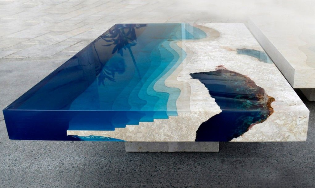 """Breathtaking new """"Lagoon"""" tables capture the beauty of the ocean ..."""