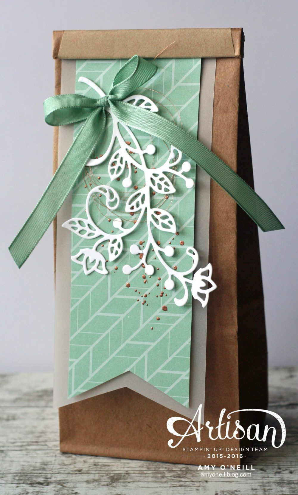 The flourish thinlits dies by stampin up help to make easy the flourish thinlits dies by stampin up help to make easy elegant gift treat bagscreative cardswrapping ideaselegant gift wrappinggreeting kristyandbryce Gallery