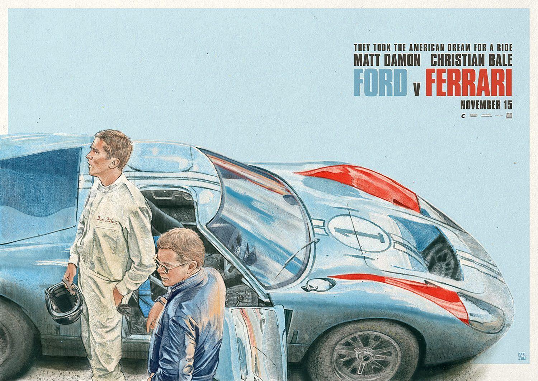 Ford V Ferrari Art By Colin Murdoch Ferrari Ford Movies