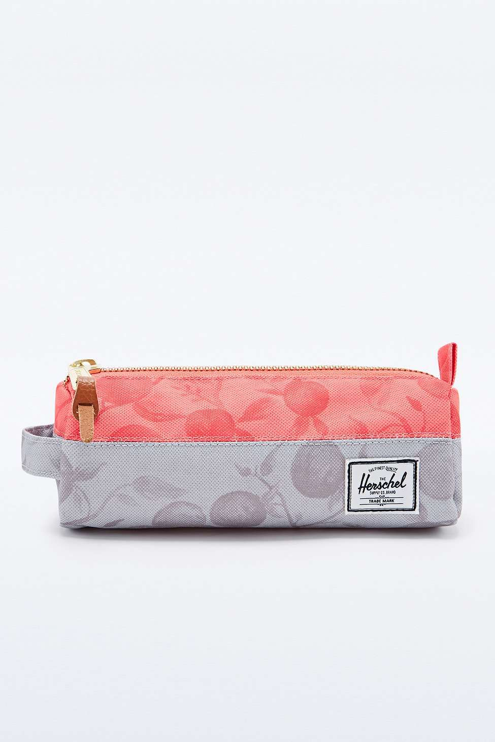 c589ee864cef Herschel Supply co. Settlement Pencil Case in Grey and Red