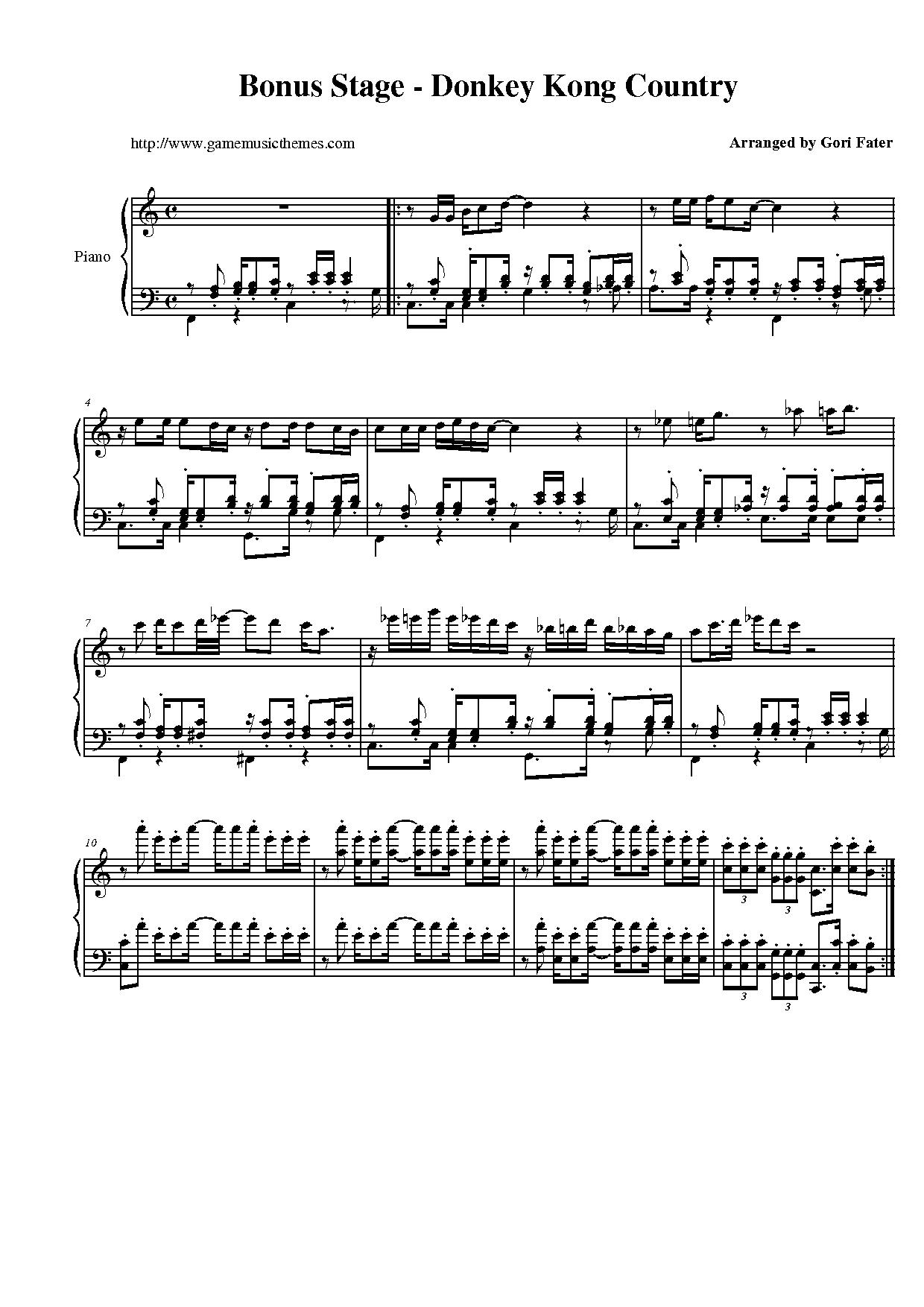 country piano sheet music pdf