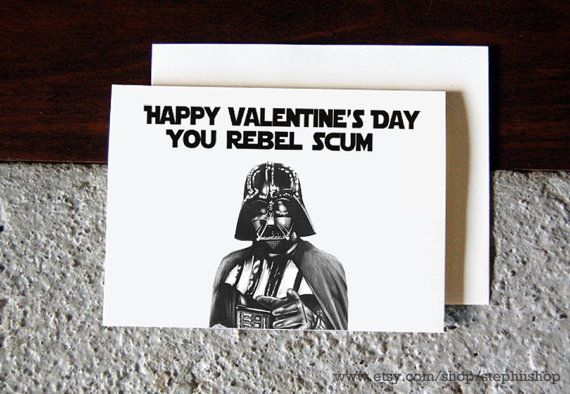 Valentines day star wars themed card happy by stephiishop 400 diy things valentines day star wars solutioingenieria Images