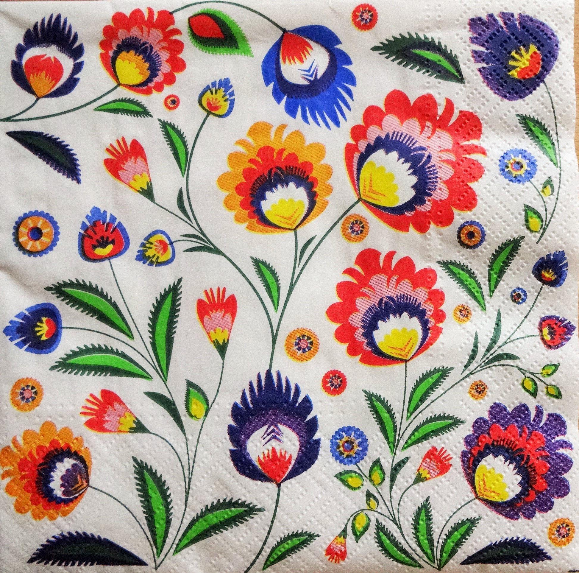 8c57722a 4 Multicolored Paper Napkins, Napkin for Decoupage, Collage Napkins ...