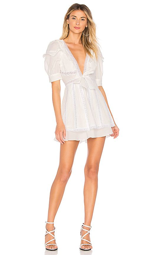 81603b48fa For Love   Lemons x REVOLVE Pintuck Dress in White