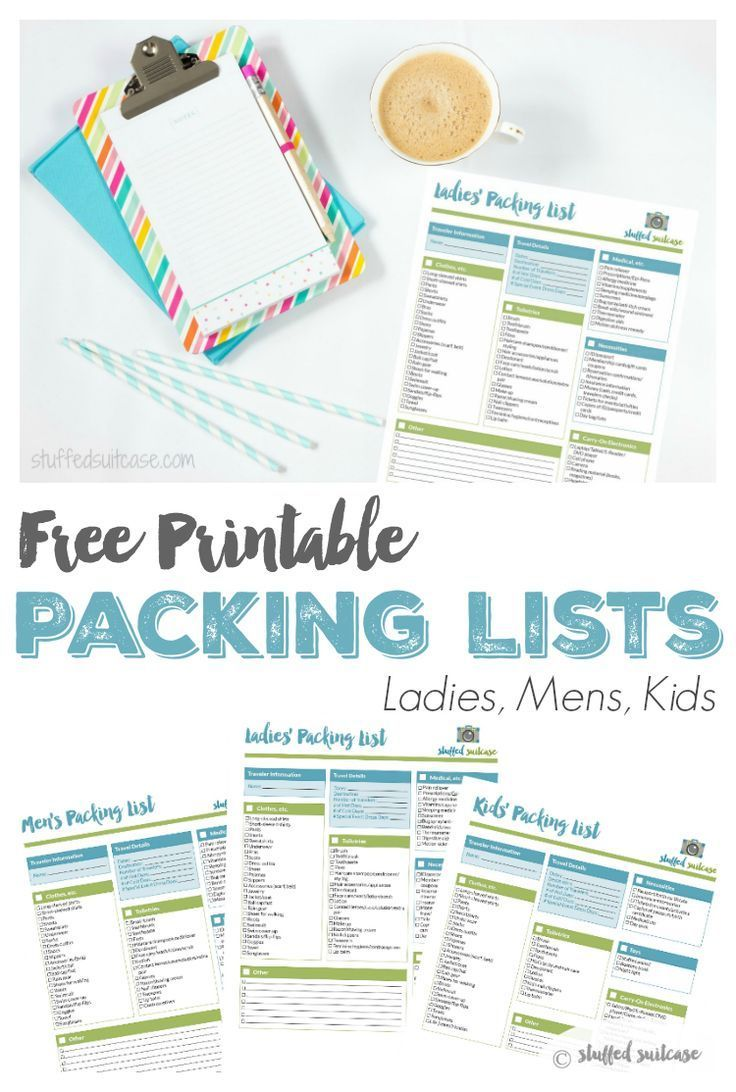 packing list template printable packing how to organize