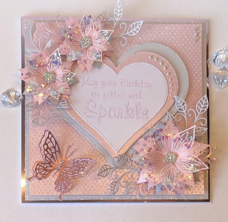 Stunning Handmade Luxury Boxed Birthday Card Etsy Chloes Creative Cards Beautiful Handmade Cards Boxed Birthday Cards