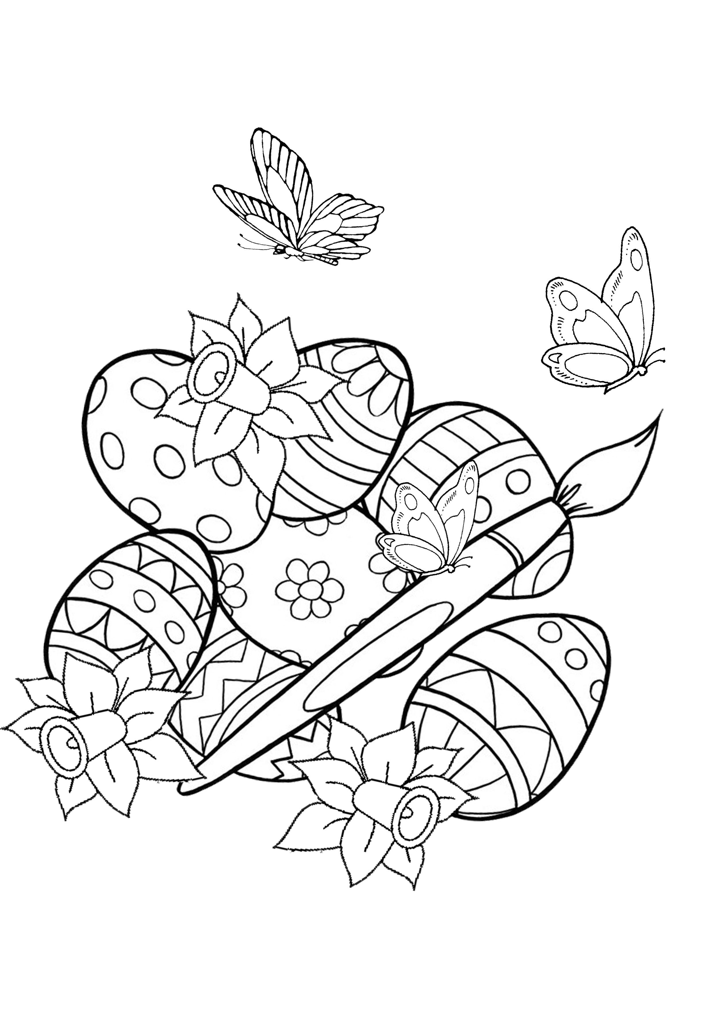 It is a graphic of Légend Free Printable Spring Coloring Pages for Adults