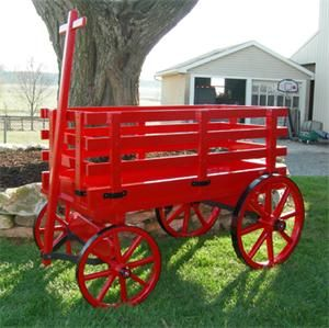 Photo of Amish Wooden Express Wagon – Medium Premium