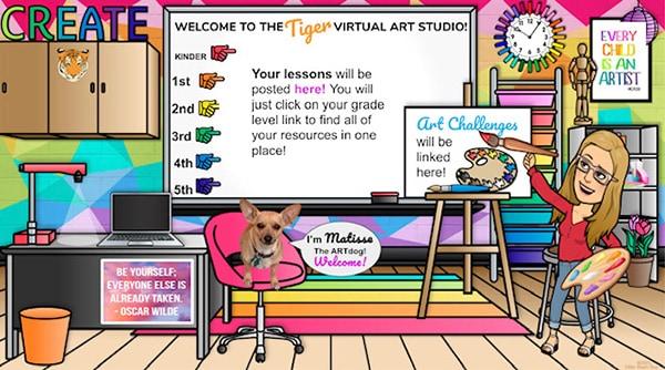 15 Awesome Virtual Bitmoji Classroom Ideas Virtual Classrooms Google Classroom Teachers Online Teaching