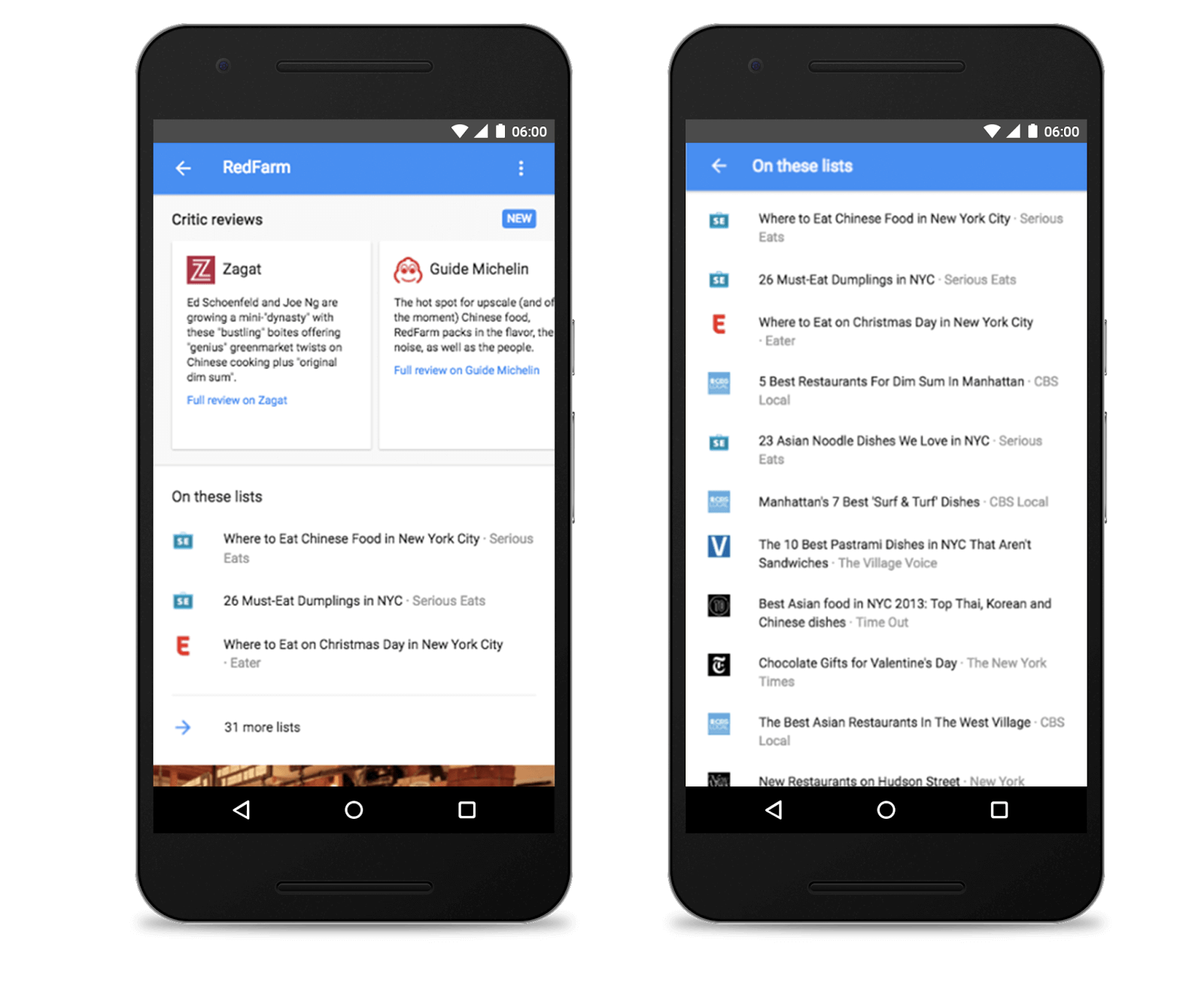 Google Search To Include Best-Of Lists For Eating & Drinking #android #google #smartphones