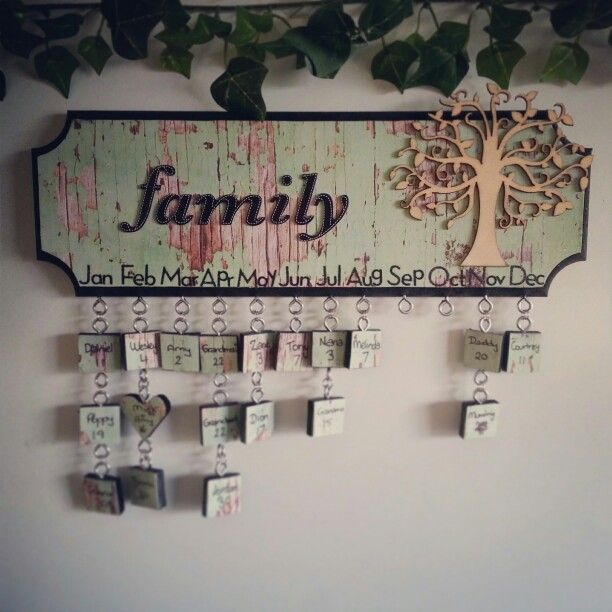 Family birthday's calendar