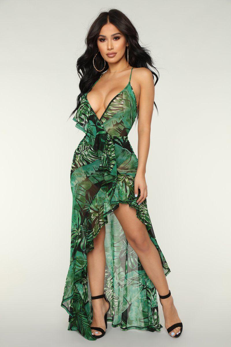 More Than Enough Tropical Dress Black Tropical Dress Tropical Maxi Dress Fashion [ 1200 x 800 Pixel ]