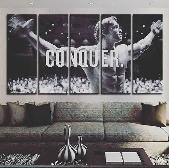 ARNOLD SCHWARZENEGGER Bodybuilding Fitness Motivational Art Canvas Print Poster