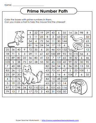 Prime Number Worksheets And Activities Prime Numbers Prime And Composite Numbers Prime Numbers Worksheet