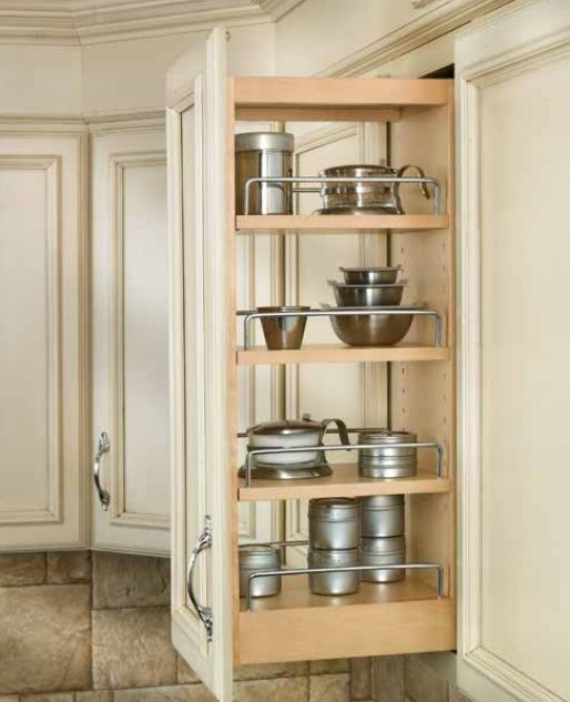 Cabinet Door Pullout Organizers For 9 And 12 Wide Wall Cabinets Includes 3 Shelves Tri Slide System And Door Mounti Home Kitchen Renovation Kitchen Remodel