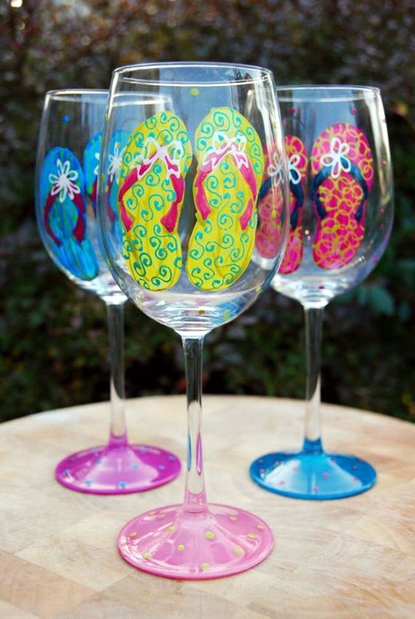 40 artistic wine glass painting ideas 15 art and wine glass