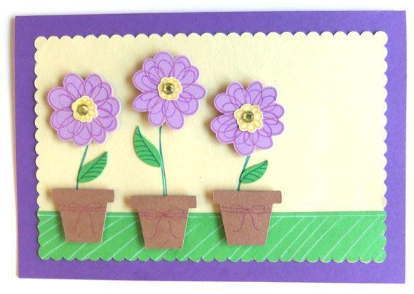 Scribble-Blumen-Karte - scribble-flower-card (CAMEO)