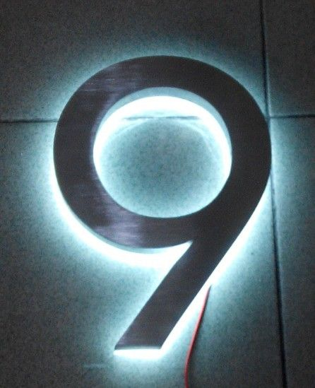 Modern Led House Number 9 Apartment Numbers