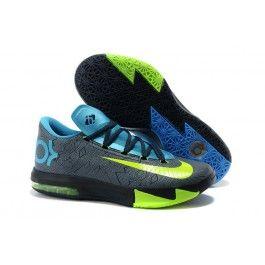 quality design 52d97 ca724 Billig Nike KD VI Elite Männer Schuhe Schwarz Blau Grau ...