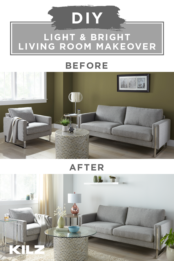 Light And Bright Living Room Makeover The Perfect Finish Blog By Kilz Bright Living Room Makeover Bright Living Room Living Room Makeover