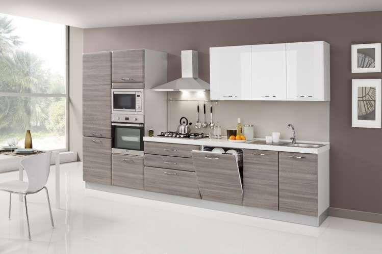 Cucina lineare bicolore - Cucine bicolore dal design sobrio ...