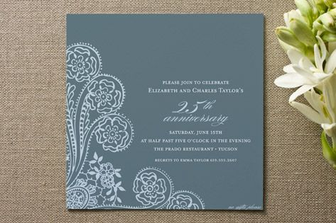 Spanish Lace Anniversary Party Invitations Cards Diwali - Anniversary party invitation template