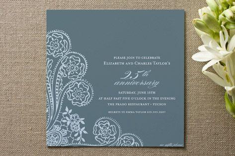 Spanish Lace Anniversary Party Invitations Cards Diwali - Anniversary party invitation template